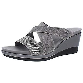 Anne Klein Womens Polly Open Toe Casual Slide Sandals