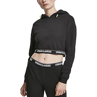 Urban Classics Ladies - Waistband Cropped Hoody black