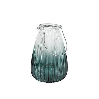 Licht en levende orkaan 14,5x21,5cm - Paxt Glass Seagreen en Zilver