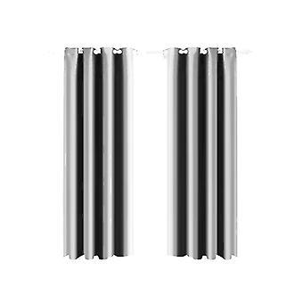 1 Pair Blockout Curtains Panels 140X244Cm