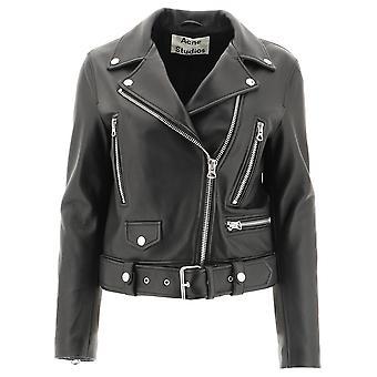 Acne Studios 1az166900 Women's Black Leather Outerwear Jacket