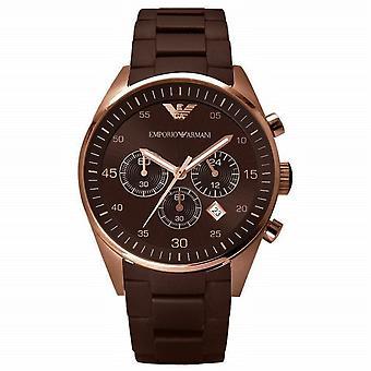 Emporio Armani menns Chronograph Watch - AR5890 - Brown/Rose