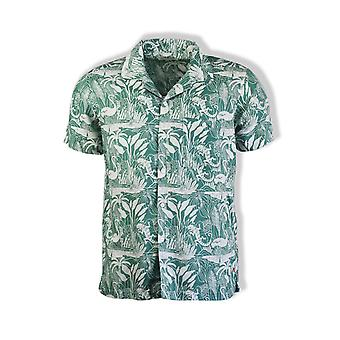 Far Afield Selleck Short-Sleeved Linen Shirt (Salines Green)