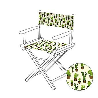 Tropical Cacti Directors Chair Replacement Water Resistant Canvas Cover Garden