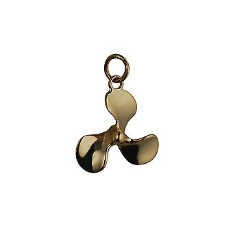 9ct Gold 17x20mm Propellor Pendant or Charm