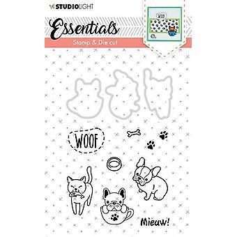 Studio Light A6 Stamp & Die Cut - Essentials Animals Number 30