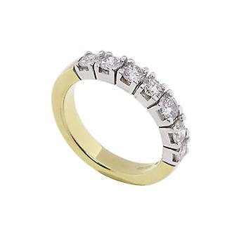 Gold ring with brilliants