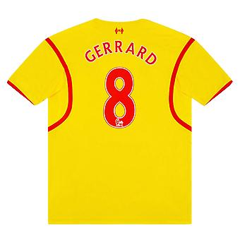 Maillot 2014-2015 Liverpool Away (GERRARD 8) (Excellent)