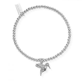 ChloBo Silver Cute Charm Humming Bird Bracelet