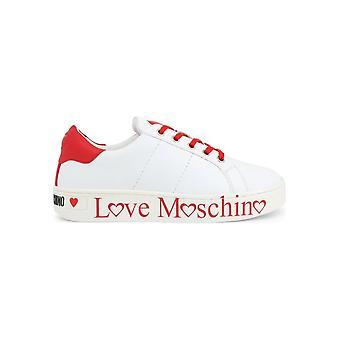 Love Moschino - Buty - Trampki - JA15033G1AIF_110C - Damy - biało-czerwony - EU 41