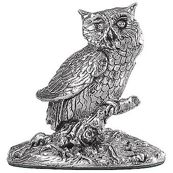 Orton West Owl Ornament - Silver