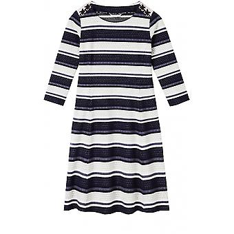 Sandwich Clothing Blue & White Striped Dress