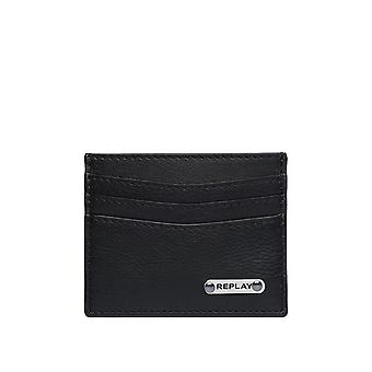 Replay Men's Leather Credit Card Case 10Cm