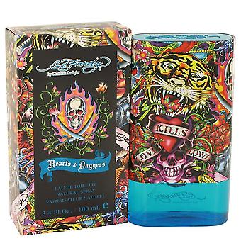 Ed Hardy Hearts & Daggers Eau De Toilette Spray By Christian Audigier 3.4 oz Eau De Toilette Spray