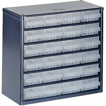 raaco 624-01 Small parts container (W x H x D) 306 x 283 x 150 mm No. of compartments: 24 1 pc(s)
