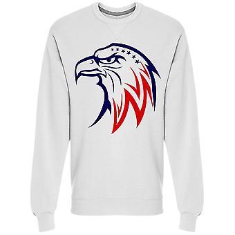 American Eagle W/national Colors Sweatshirt Men's -Image by Shutterstock