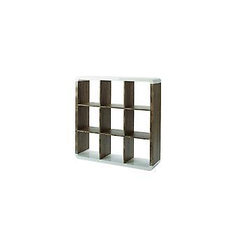 Cube Library Naturträ, Vitt i MDF 110x29.5x110 cm