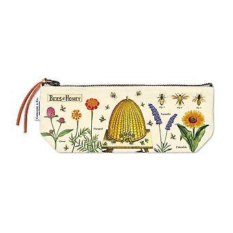 Cavallini Mini Pouch Bees & Honey - Cotton Pencil Storage Case