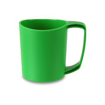 Lifeventure Ellipse Travel Mug 355ml Lightweight Durable Plastic BPA Free Green
