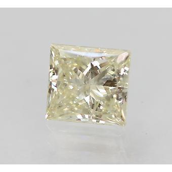 Certified 0.72 Carat J VS1 Princess Enhanced Natural Diamond 5.06x4.76mm 2EX