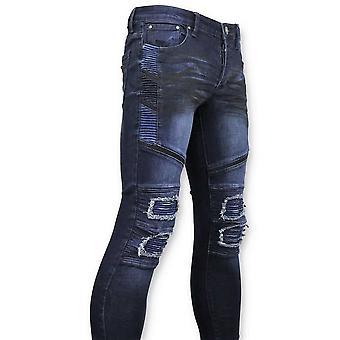 Biker Jeans Ripped - Blue