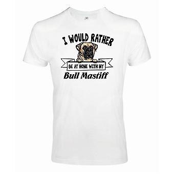 Bull mastiffKikande hund t-shirt - Rather be with...