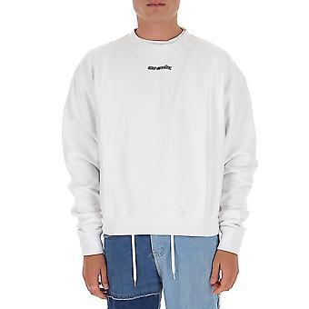 Off-white Omba035e20fle0020145 Men's White Cotton Sweatshirt