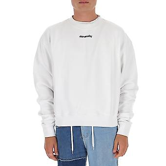 Off-white Omba035e20fle0020145 Mænd's Hvid Bomulds sweatshirt