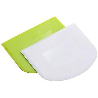 2PC Plástico Bolo Creme De Leite Manteiga de Massa - Batter Scraper Ferramentas de cozimento - Ough Ferramentas de Corte Gadgets cozinha FD - Conjuntos bakeware