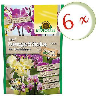 Sparset: 6 x NEWDORFF Azet® FertilizerSauvat orkideat, 40 tikkua
