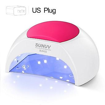 UV Lamp Nail Dryer for UV - LED Gel Nail Dryer Infrared Sensor with Rose Silicone Pad