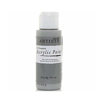 Docrafts gris oscuro Artiste All Purpose Acrylic Craft Paint - 59ml
