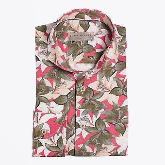 John Miller  - Floral Print Shirt - Red/Multi