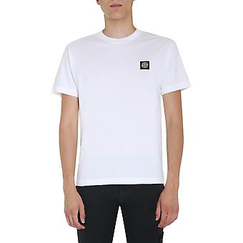 Stone Island 731524113v0001 Men''s White Cotton T-shirt