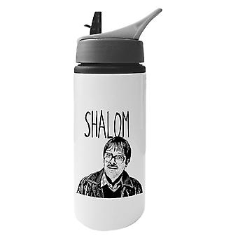 Shalom Friday Night Dinner Jim Aluminium Water Bottle With Straw