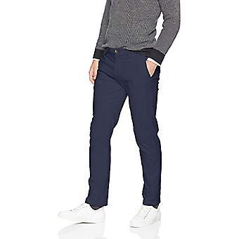 Essentials Menn's Slim-Fit Casual Stretch Khaki, Navy, 31W x 32L
