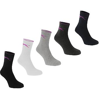 Slazenger 5 Pack Crew Socks Ladies