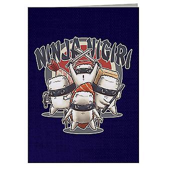 Ninja Nigri With Text Greeting Card