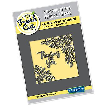 Claritystamp Thinking of You Floral Frame
