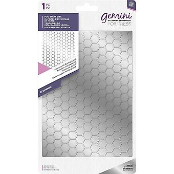 Gemini Honeycomb Background Foil Stamp Die