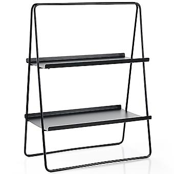 Zone Regal A-Table noir étagère en acier H 75 cm