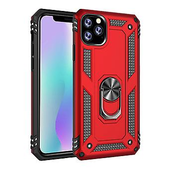 R-JUST iPhone 11 Case - Shockproof Case Cover Cas TPU Red + Kickstand