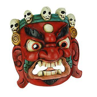 Декор стены деревянные маски Непальская Лорд Махакала тибетского буддизма
