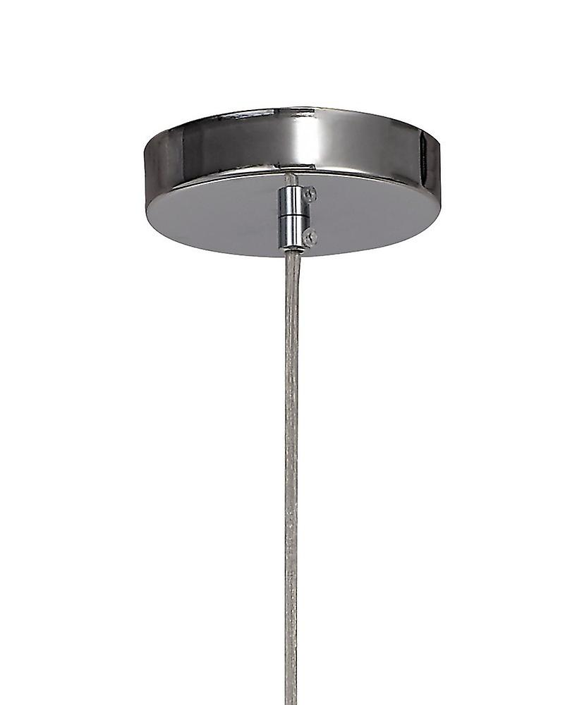 Inspired Diyas  - Canto - Double Rectangle Ceiling Pendant 1 Light E27 Polished Nickel, Acrylic