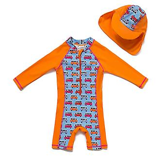 Baby Boys One Piece UPF 50+ Sun Protection L/S Sleeves Sunsuit
