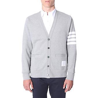 Thom Browne Mjt167a00535055 Men's Grey Cotton Cardigan