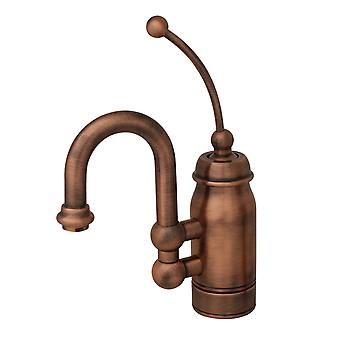 Baby Horizon Single Handle Entertainment/Prep Faucet With Curved Extended Stick Handle And Curved Swivel Spout  - Antique Copper