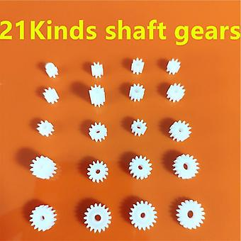 21 Kinds Of Plastic Shaft Gears For Kids Toys -diy