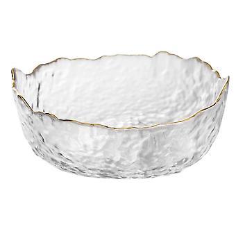 Ciotola da dessert in vetro resistente alle grandi temperature irregolare, insalata e frutta