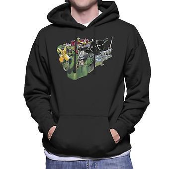 Austin Healey Engine British Motor Heritage Men's Hooded Sweatshirt